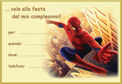 Feste di compleanno e matrimoni animazione e laboratori for Spiderman da colorare pdf